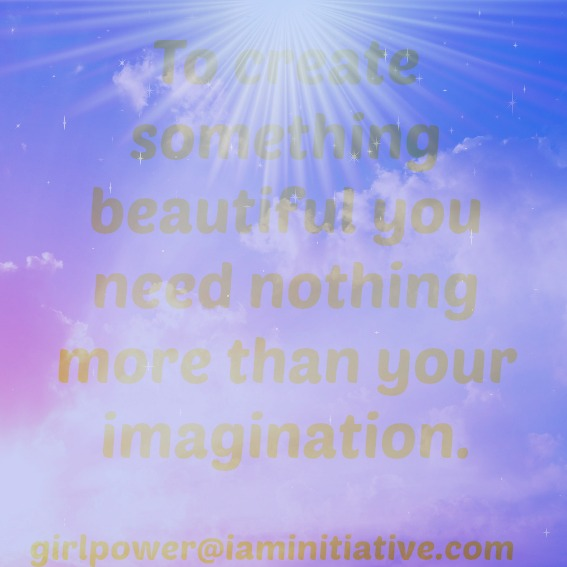 create with your imagination